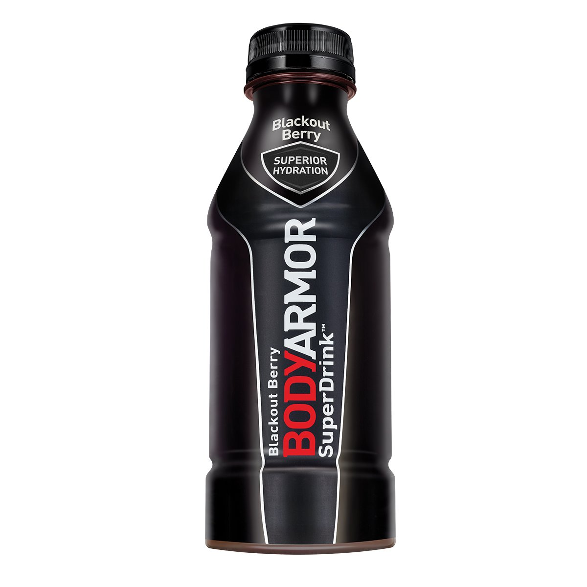 BodyArmor SuperDrink, Electrolyte Sport Drink, Blackout Berry 16 Oz (Pack of 24)