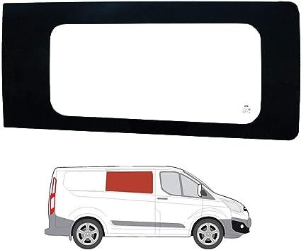 Mano derecha ventana de fijo transparente para Panel lateral OPP. Puerta Corredera Ford Transit Custom: Amazon.es: Coche y moto