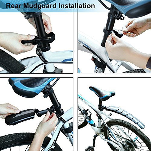 TOCC-Senlai Adjustable Road Mountain Bike Bicycle Cycling Tire Front/Rear Mud Guards Mudguard Fenders Set by TOCC-Senlai (Image #5)