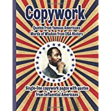 Copywork Quotes from Influential Americans Words of Wisdom from USA History: Single-line copywork pages for handwriting pract
