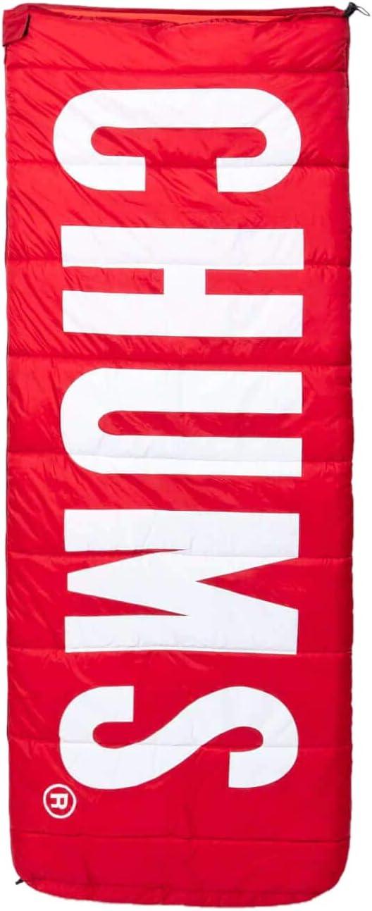チャムス(CHUMS) 寝袋 スリーピングバッグ チャムスロゴ CH09-1147-R001-00 レッド 約H182×W76cm