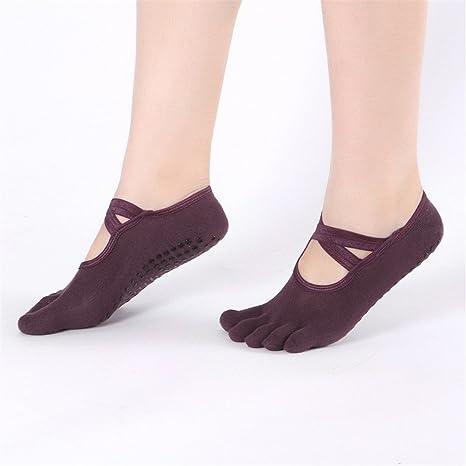 Fengbingl-ac Calcetines de Yoga para Mujer Calcetines Yoga ...