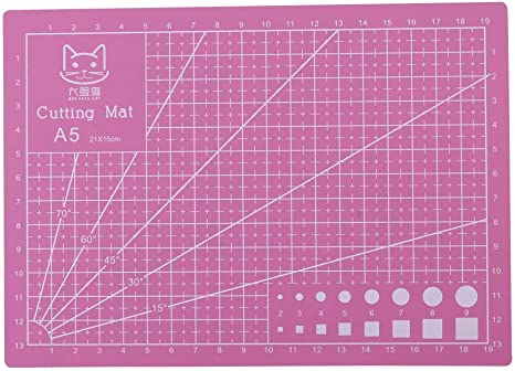 Amazon Com Self Healing Cutting Mat Professional Durable Non Slip Rotary Cutting Mat With Clear Measurements For Arts Crafts Single Side 8 X 6 Pink