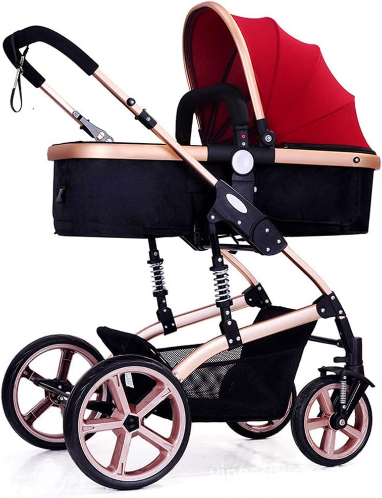 2019 Baby Stroller Can Sit and Lying Stroll Folding Anti-Shock High View Carriage Infant Stroller Pushchair Pram,c 61KKSnTxUyL