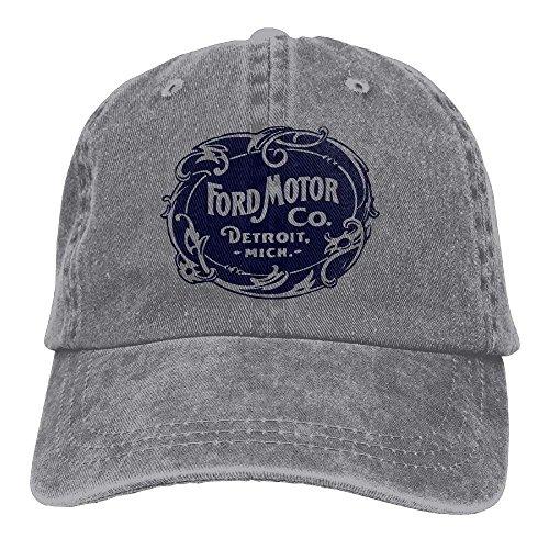 Vintage Ford Motor Company Detroit Retro Cool Adjustable Travel Cotton Washed Denim Caps - Ford Cap
