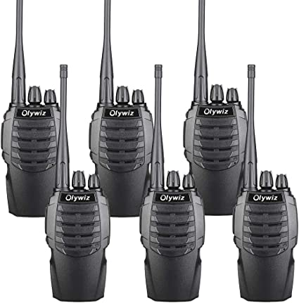Loud/&Clear Dual Desktop Charger with USB Cable 6 Pack Olywiz HTD826 Two-Way Radio Walkie Talkies for Adults Long Range Rechargeable 1800mAH Battery Ultra-Long Standby