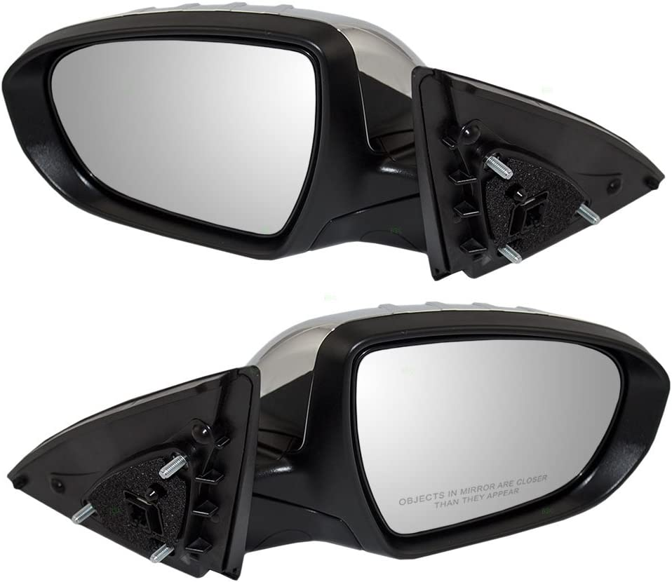 Drivers Power Side View Mirror Heated Signal Power Folding Chrome Cover Replacement for Kia 876104C040 AUTOANDART