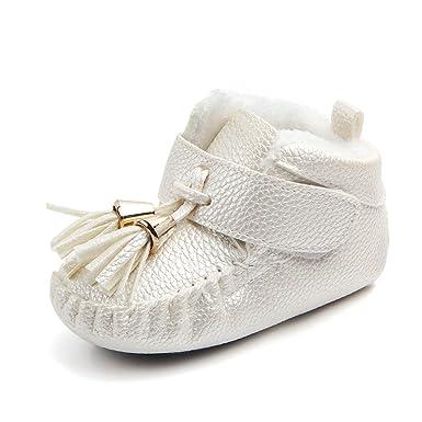 YanHoo Zapatos de niñas Zapatos de Borla para bebés más Zapatos de Terciopelo para bebés Zapatos