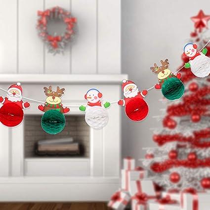 Amazon.com: Pancarta de papel de Navidad, decoración de ...