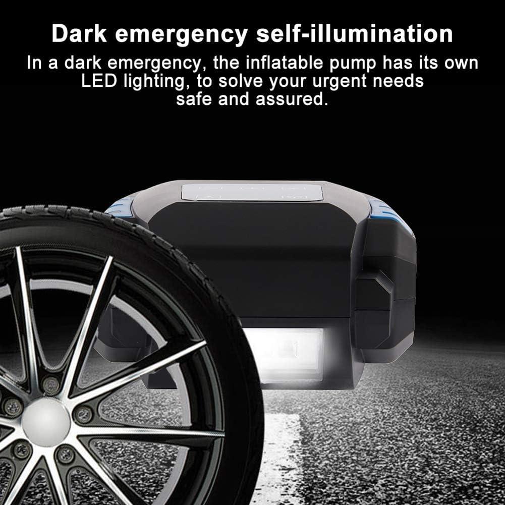 LED-Licht und HD-LED-Display Coquimbo Digitale Reifenpumpe 12V 150PSI Portable Auto Luftkompressor Touchscreen Reifen Inflator Kompressor mit 3 D/üsenadaptern Aufbewahrungstasche
