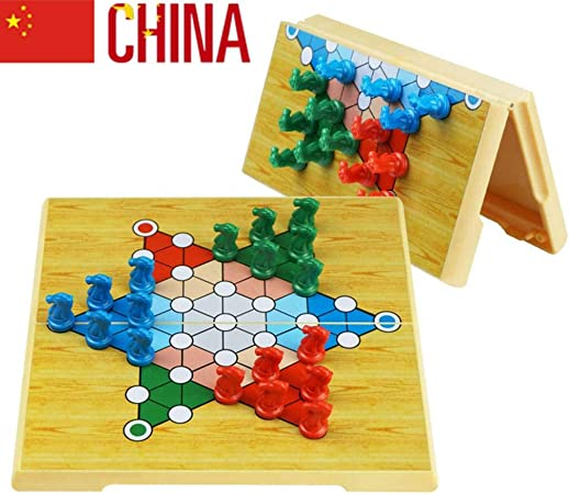 Damas Chinas Juego Tablero, Plegable magnetico para 2 o más Jugadores (Importado) - Juegos de Mesa de 6 años B: Amazon.es: Hogar
