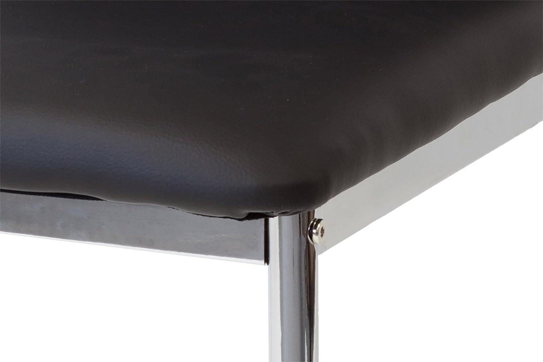 Albatros 2921 Verona Set di 2 sedie da Pranzo Piede Cromato Nero SGS Tested
