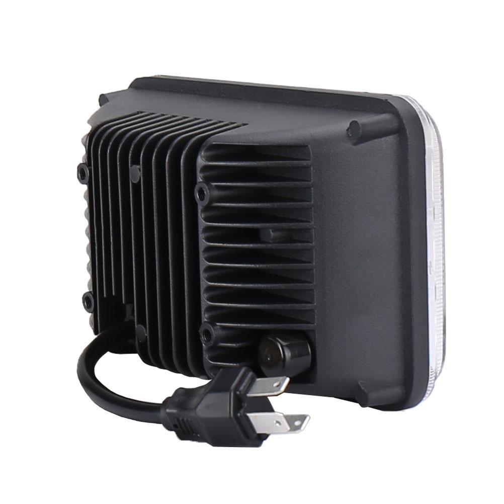 PPSAERTE® Turbo SII Rectangular 4x6 Pulgadas LED Faro bombilla Sellado Vuelva a colocar HID Xenon H4651 H4652 H4656 H4666 H6545 Proyector lente Fit para ...