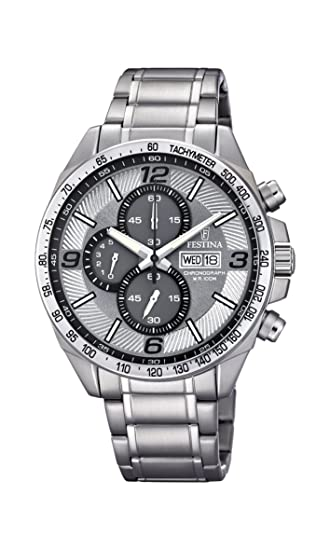 Amazon.com: Festina Timeless Chronograph F6861/2 Mens Chronograph Excellent readability: Watches