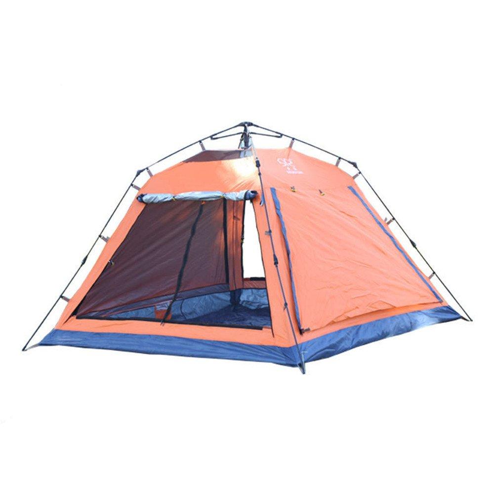 3-4人の頑丈なキャンプテント四隅のスクエアトップ自動インスタントポップアップバックパックテントウルトラライトのハイキングキャンプ用防水旅行 B07C1N8V14、サンシェード、モスキート B07C1N8V14, オーダー収納スタイル:db29ded6 --- ijpba.info