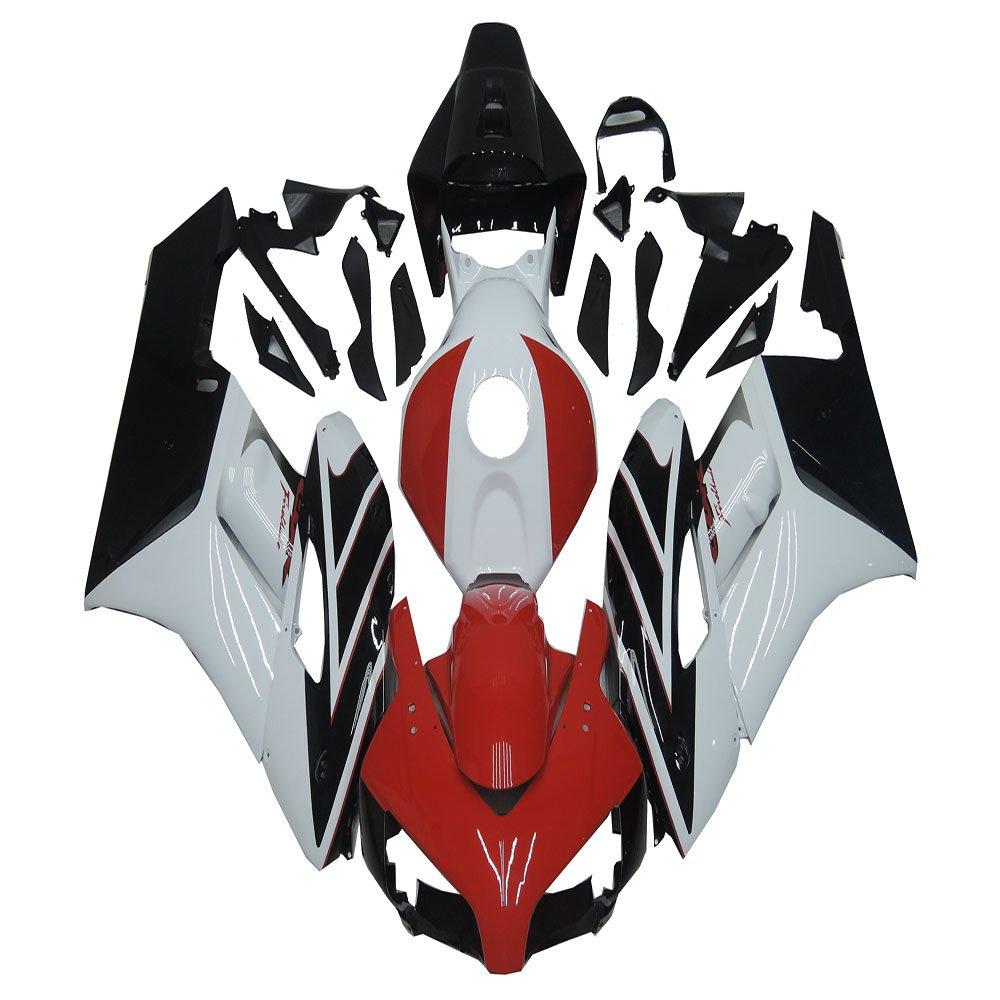 Glossy Red Black White ABS Plastic Injection Bodywork Fairings Fit for Honda 2004 2005 CBR 1000RR