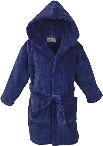 Amazon.com: Star Kids Robe Terry Bathrobe Cozy Velour Hooded Robe Boys  Girls Terryrobe: Clothing
