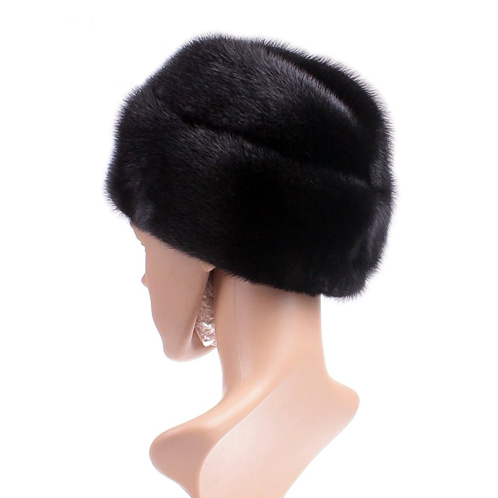 Dikoaina Men's Whole Set Mink Full Fur Russian Cossack Hat Large Black by Dikoaina (Image #5)