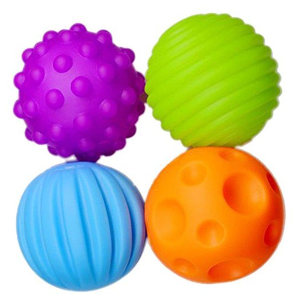 Qinlee Baby Spielzeug ABS Plastic Massagekugel Taktile weiche Kugel Hand greifen Sie den Ball Babyball