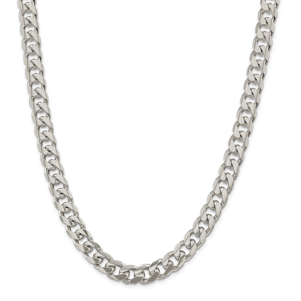 Sterling Silver 10.5mm Domed Curb Chain