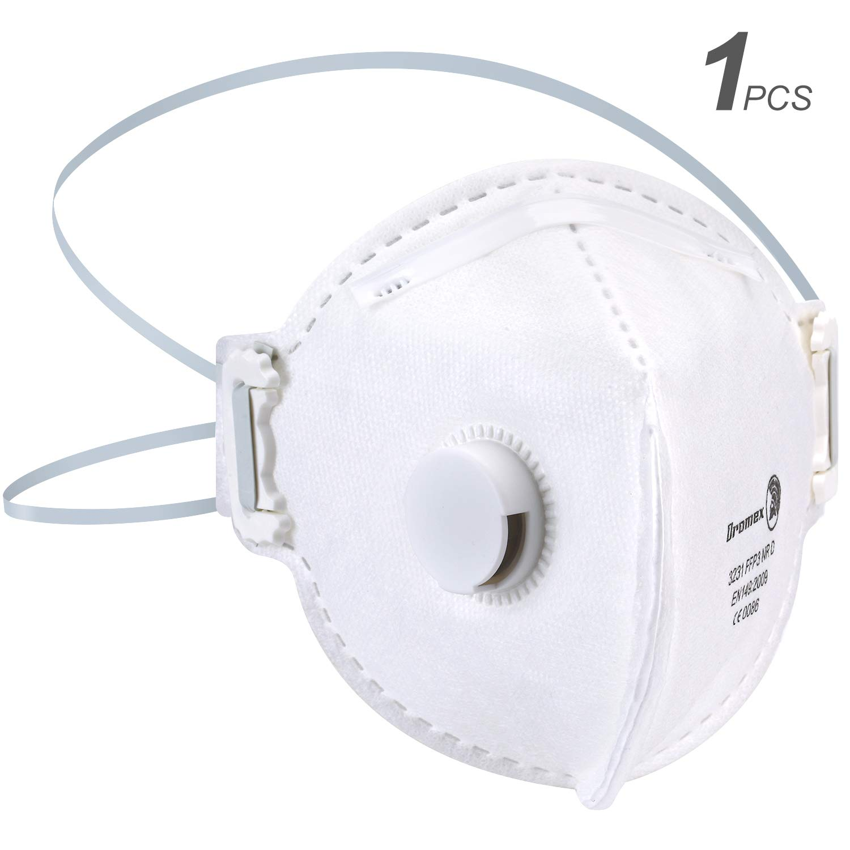Mascarilla Anti Virus Anti Polvo con Válvula, Mascarilla de Protección Respiratoria N95 Mascarilla autofiltrante para partículas Respiratoria FFP3 (FFP3 Mascarillas-1PCS)