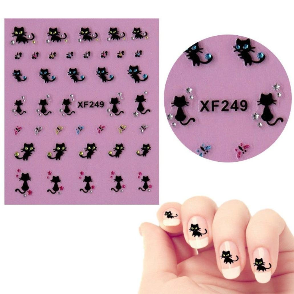 Expxon Nail Art Stickers Decals, Design Stamp Template Set Decoration Diamond Cat Butterfly Design Nail Art Image Stamping Plate Kits