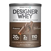 Designer Whey Protein Powder, Gourmet Chocolate, 12 Oz, Non Gmo,  Made in the USA