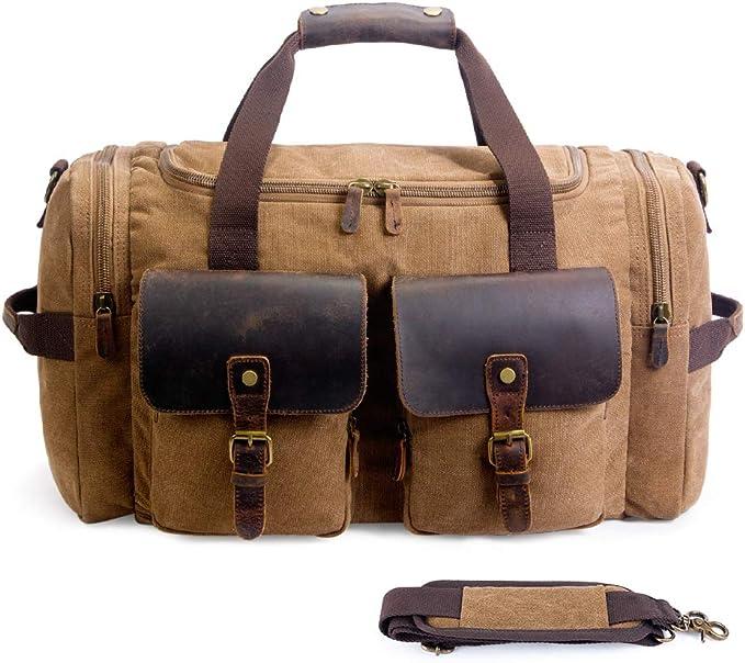 Amazon.com: SUVOM equipaje de bolsa para el fin de semana ...