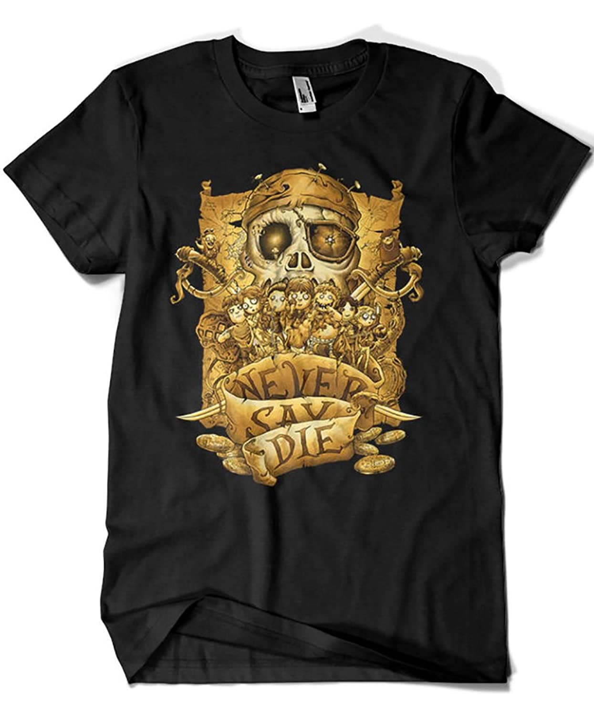 1938-Camiseta Goonies Never Say Die (Saqman)