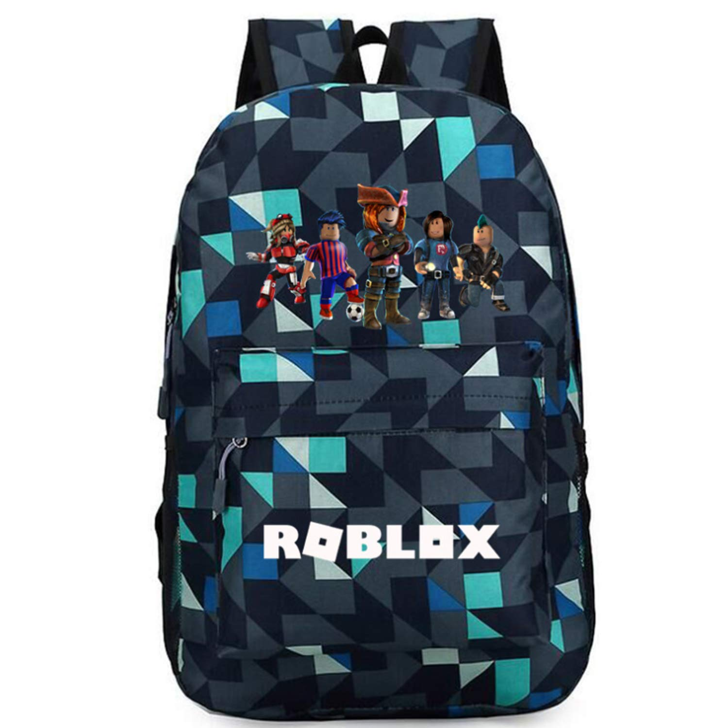 Roblox Backpack, Laptop Backpack Travel Computer Bag for boys girls kids, Water Resistant College School Bookbag (01)
