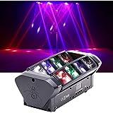 HSL Moving Head Light, DJ Spider Light Beam RGBW 4 Color DMX512 Control, Sound Activated, for Club Lights, Disco, Family…