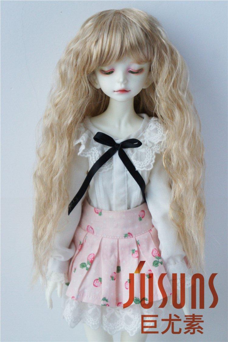 JD402 7-8inch 18-20CM Highligh Fairly Sobazu BJD wigs 1/4 MSD synthetic mohair Doll hair (Blonde)