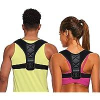 Posture Corrector for Women Men, Back Brace, Comfortable Posture Trainer for Spinal Alignment and Posture Support, Adjustable Back Straightener