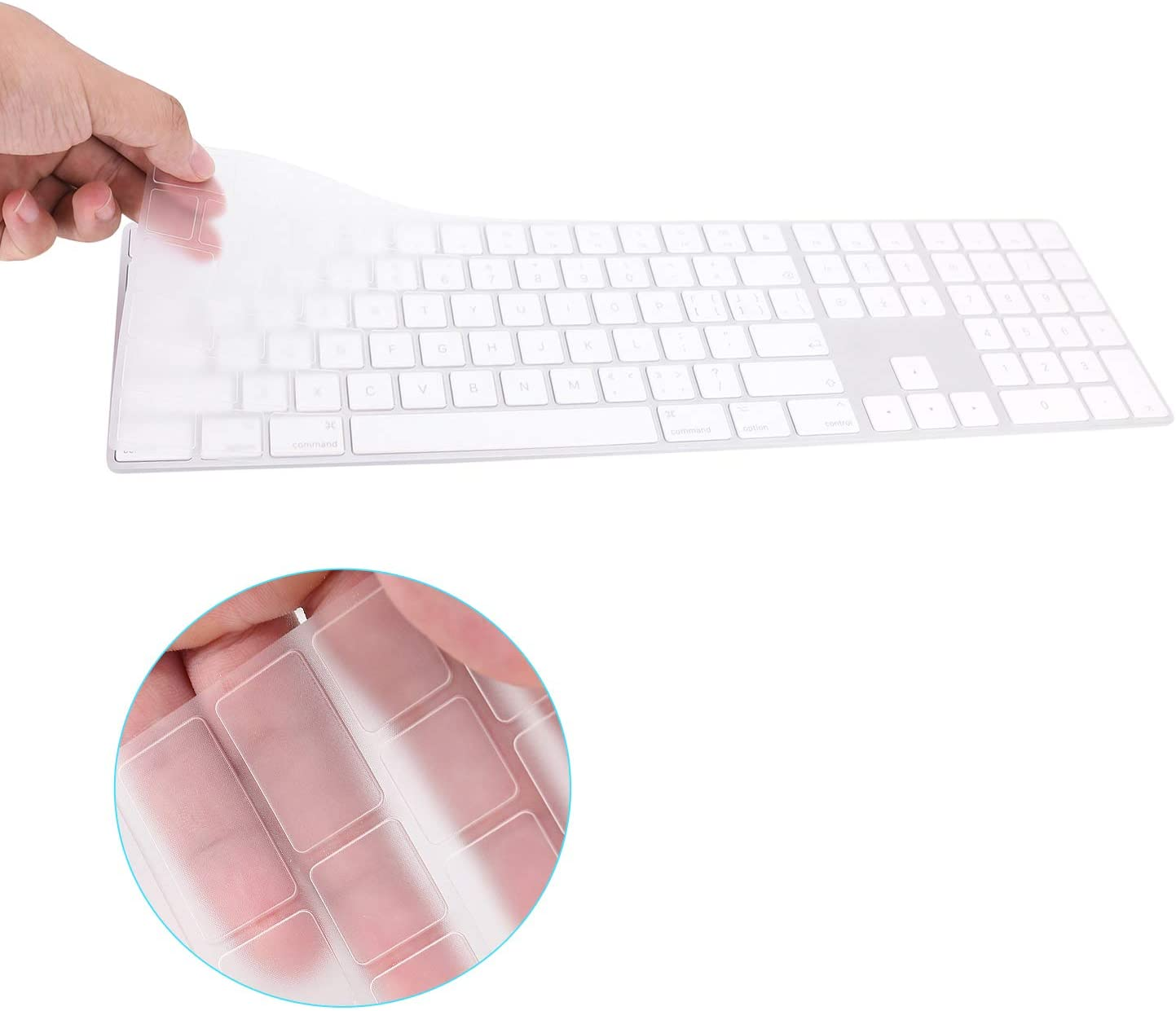 FORITO Keyboard Cover Compatible with 2017-2019 Apple Magic Keyboard with Numeric Keypad US Layout Model MQ052LL/A and A1843-Clear