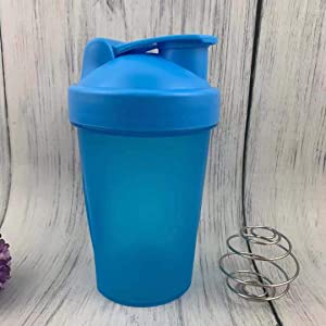 Blender Shaker Bottle with Classic Loop Top (BPA Free) – Best Protein Powder/Fruit Juice Mixer with Whisk Ball- 16 oz