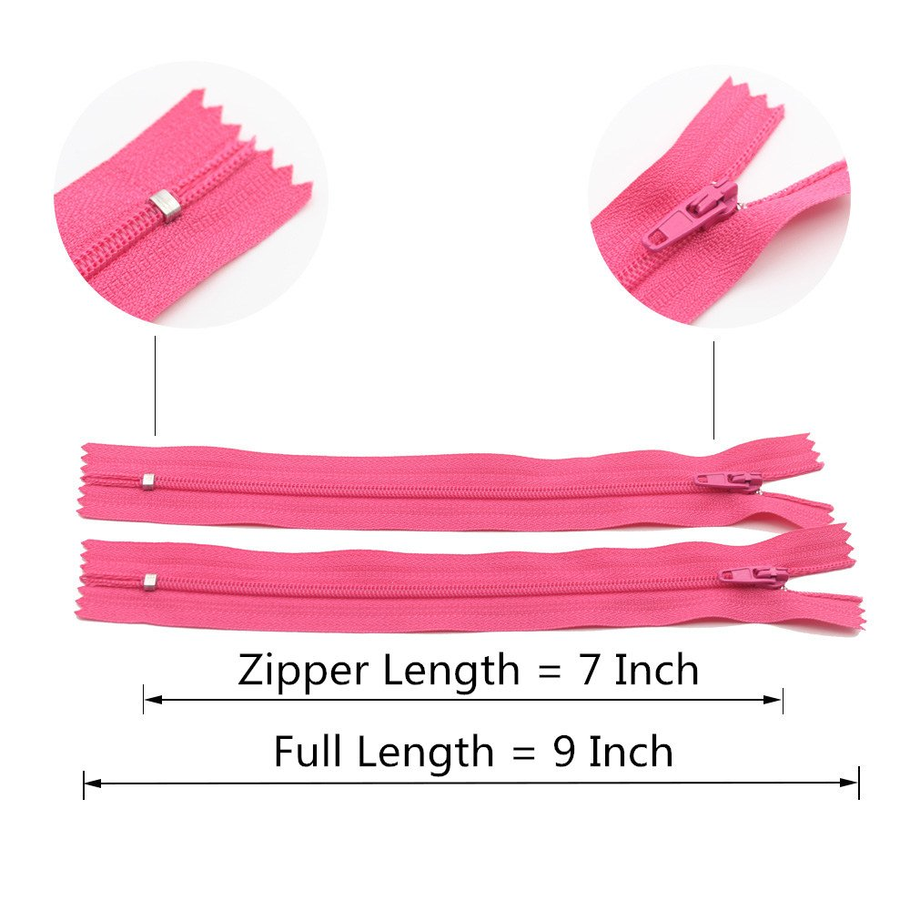 YaHoGa 50pcs 24 Inch 24 50pcs 60cm Nylon Coil Zippers for Sewing Crafts Tailor Nylon Zippers Bulk 20 Colors