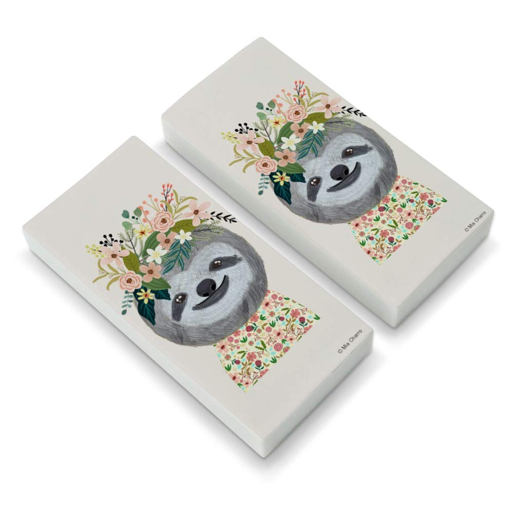 Happy Sloth Flowers in Hair Eraser Set of 2 GRAPHICS & MORE