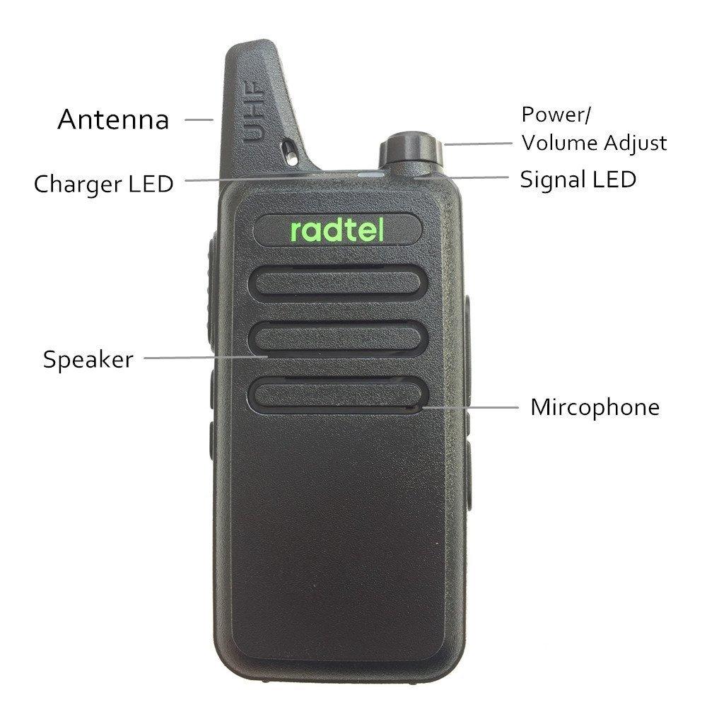 Radtel RT-10 Mini Two Way Radio UHF 400-470Mhz 3W Kid's Walkie Talkie , for Outdoor Camping Hiking Hunting Gift (10 Pack) by radtel (Image #5)