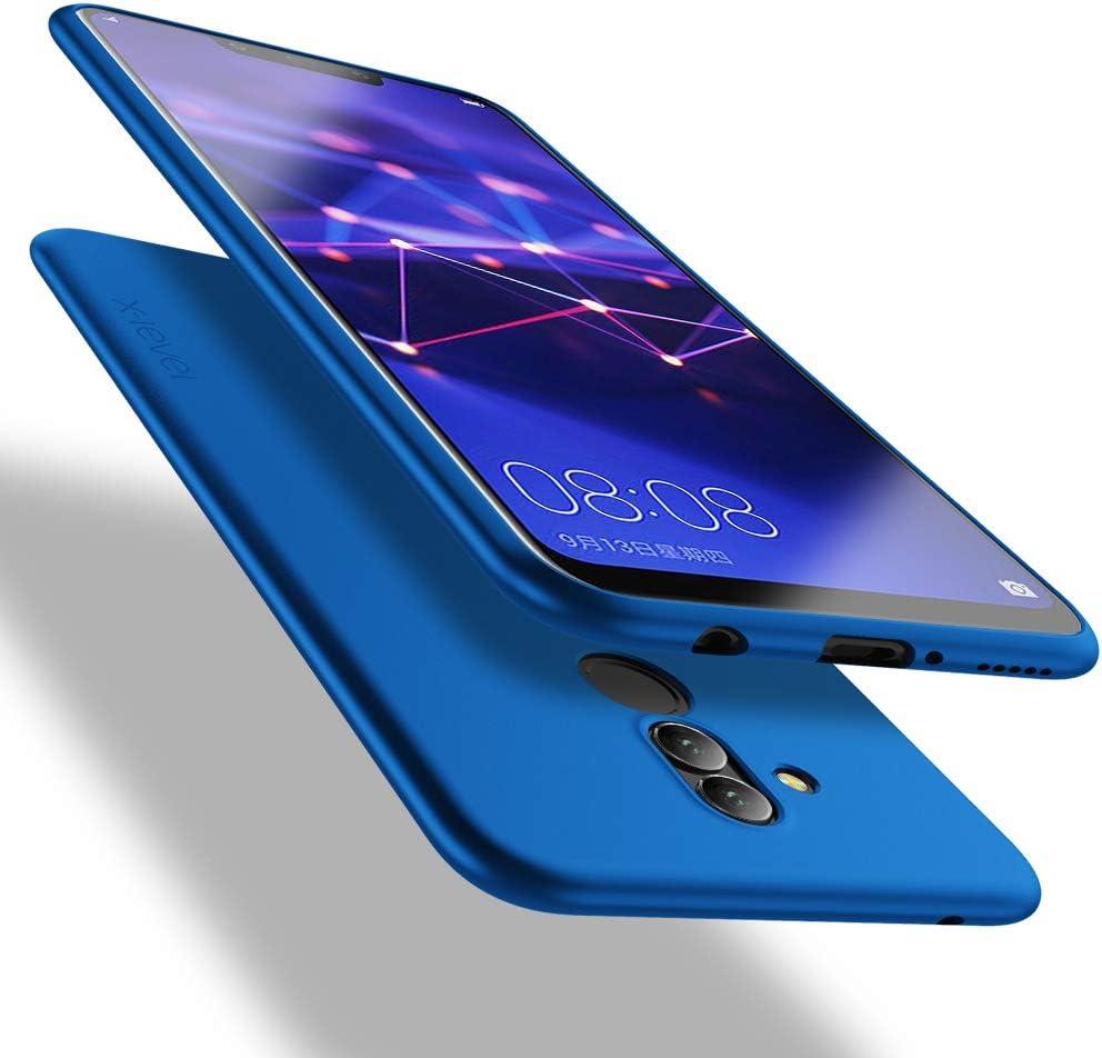 X-level Funda para Huawei Mate 20 Lite, Carcasa para Huawei Mate 20 Lite Suave TPU Gel Silicona Ultra Fina Anti-Arañazos y Protección a Bordes Funda Phone Case para Huawei Mate 20 Lite - Azul