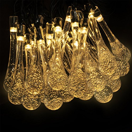 LED Concepts® Solar LED Raindrop Style String Lights –30 ...