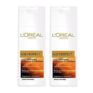 LOréal Paris Age Perfect - Leche Limpiadora antiarrugas y relajante – Pieles maduras –
