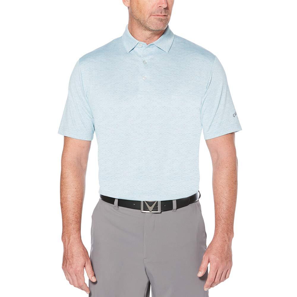 Callaway クーリングスペース染めジャカード半袖ゴルフポロシャツ B07DGCFHRV Small|Pearl Blue Pearl Blue Small