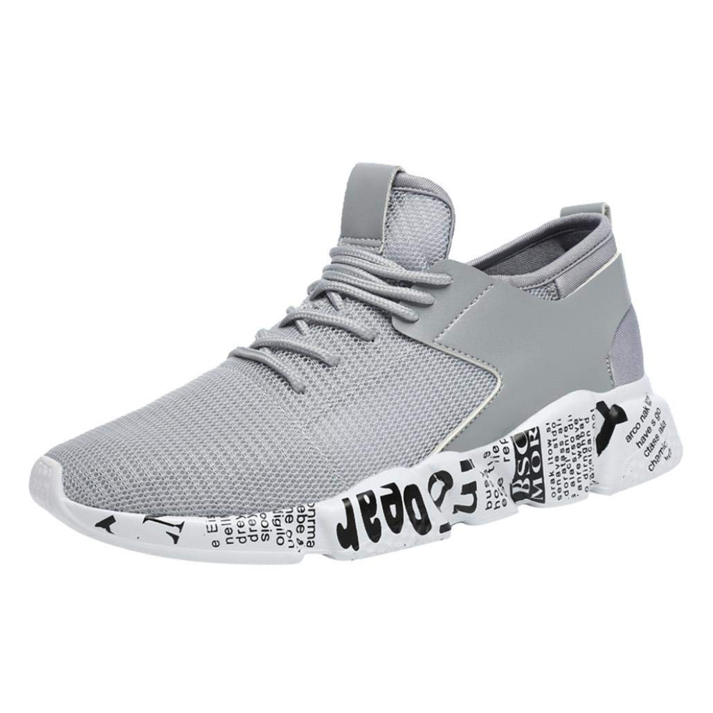 Yanhoo-Scarpe Sneaker da Uomo, Uomo Casual Lace Up Suole comode Scarpe Sportive da Corsa,Scarpe da Ginnastica Sportive Sneakers Running Basse Basket Sport Outdoor Fitness Respirabile Mesh