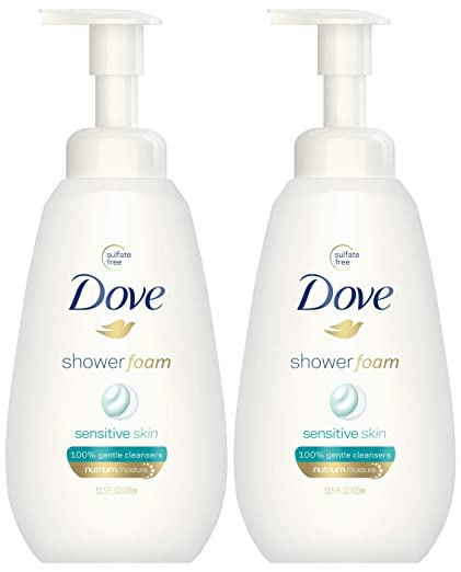 Dove Shower Foam Sensitive Skin Body Wash 13.5 oz - 2-PACK