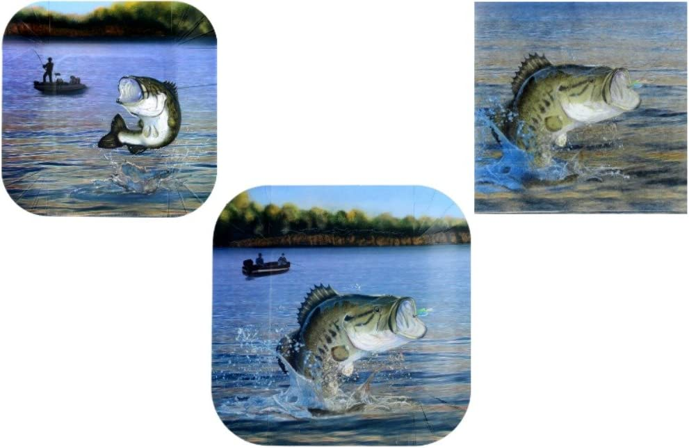 Fishing Party Supplies - Bundle Includes Plates and Napkins for 8 Guests in a Gone Fishin' Design by Havercamp