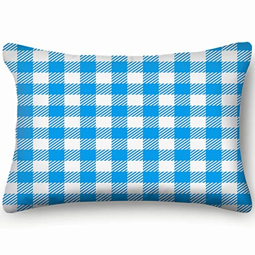 best bags Blue White Plaid Table...