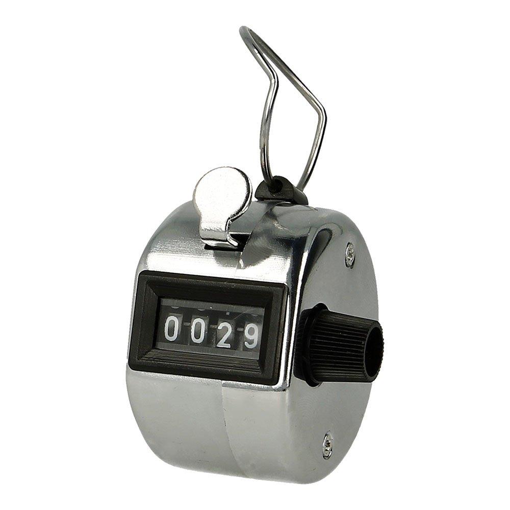 Contador Analógico de 4 Dígitos Plata, Registrador de Visitas, Golpes, Pasos, Vueltas, Mercancía, Electrónica Rey® ##d60##