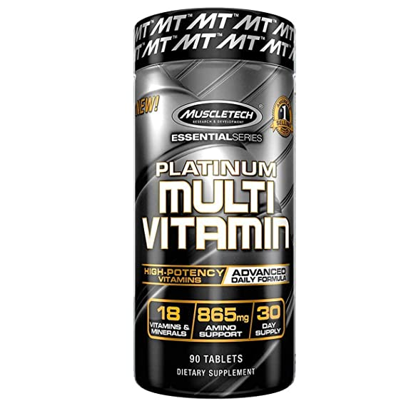 Muscletech Platinum Advance Multivitamin, 90 Caplets Multivitamins