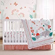Safari Love 4 Piece Baby Girl Elephant Garden Crib Bedding Set by Peanut Shell