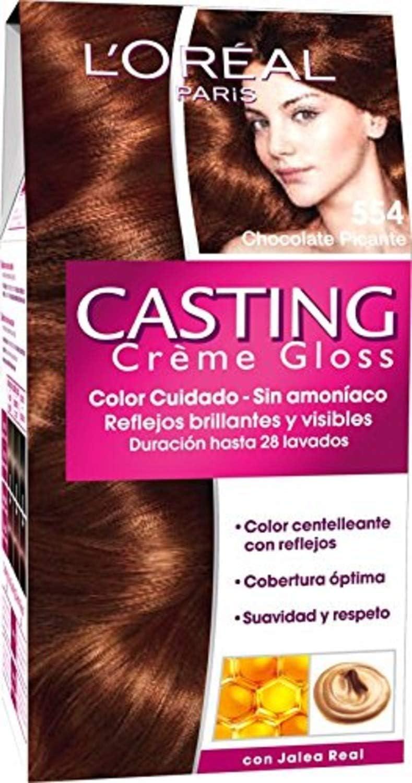 LOreal Paris Casting Crème Gloss Coloración Sin Amoniaco, Tono: 554 Chocolate - [paquete de 3]